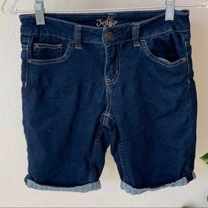 Justice Roll Bottom Midi Jean Shorts sz 12